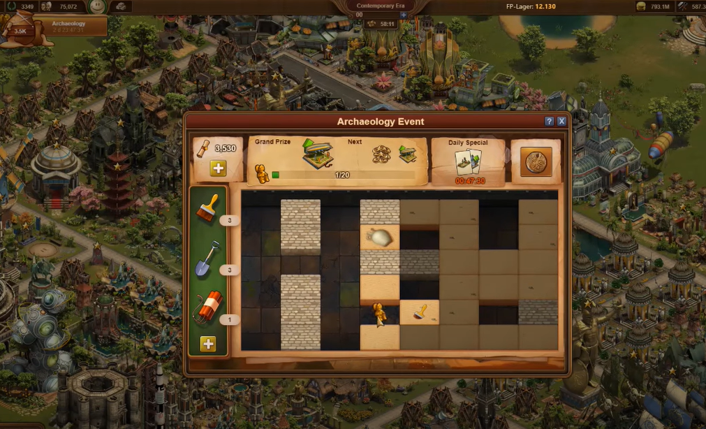 Forge of Empires Archaeology Event  Mini Game