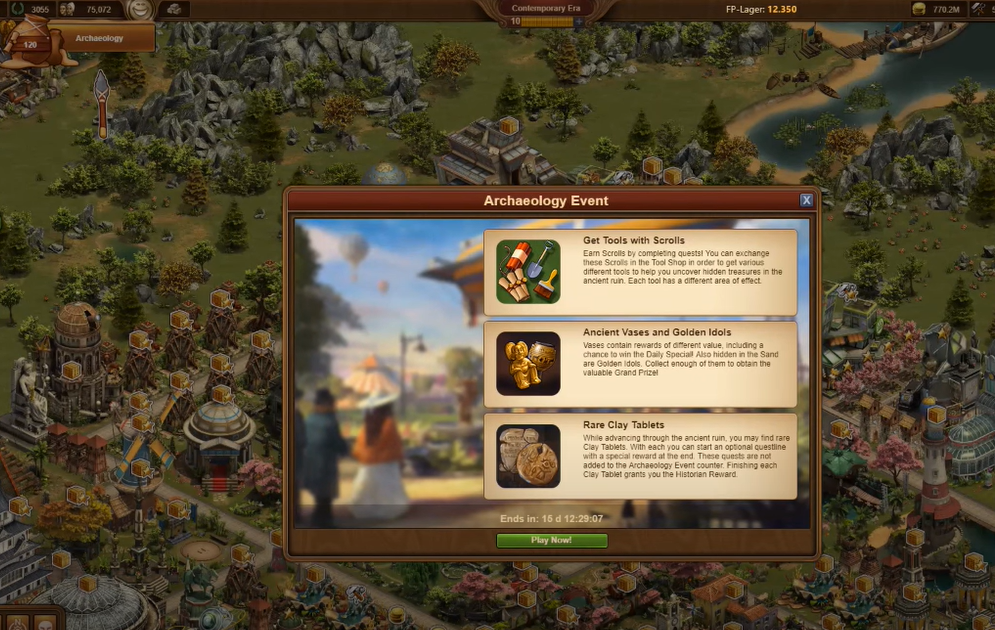 Forge of Empires Archaeology Event