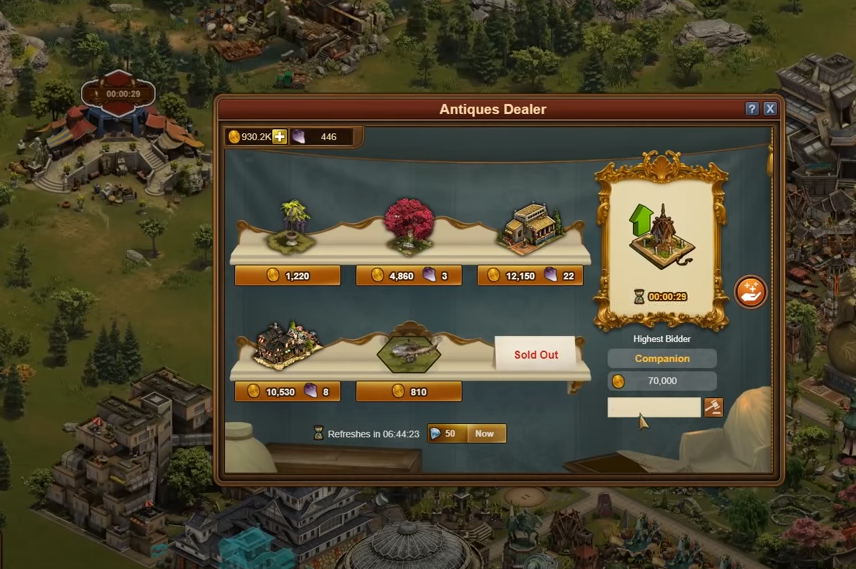 Forge of Empires Antiques Dealer
