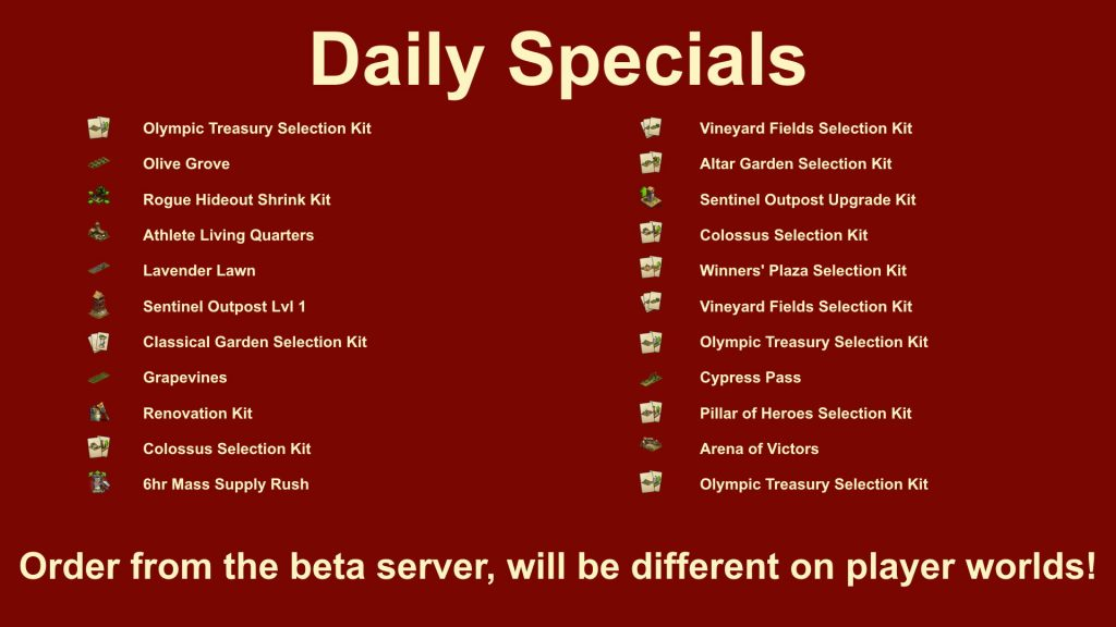 Forge of Empires Bowl Event Daily Specials